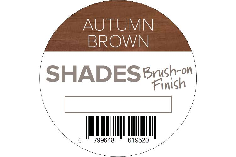 Q-Deck Autumn Brown shades brush on finish top