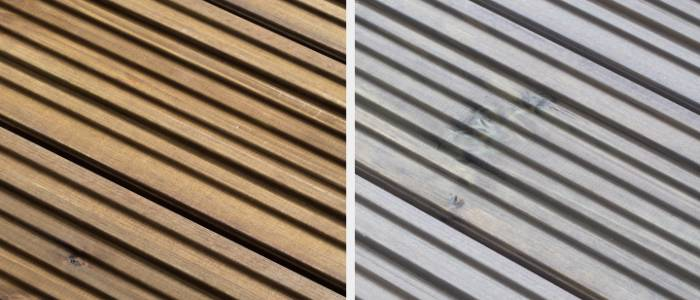 Q-Deck Canterbury Style Decking - Autumn Brown and Pebble Grey Colours