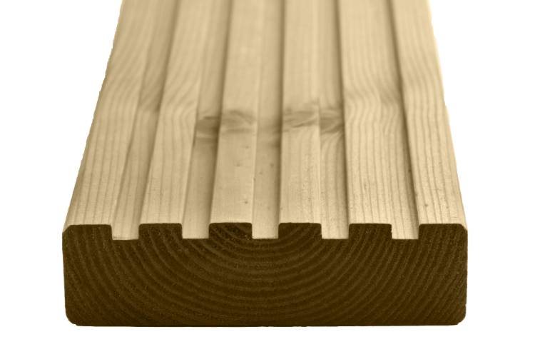 Q-Deck York decking grooved profile image