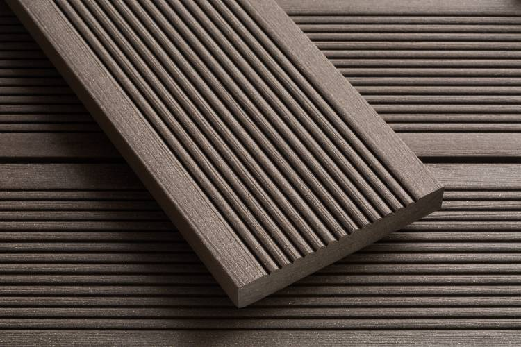 SmartBoard Chocolate Brown decking reeded profile image