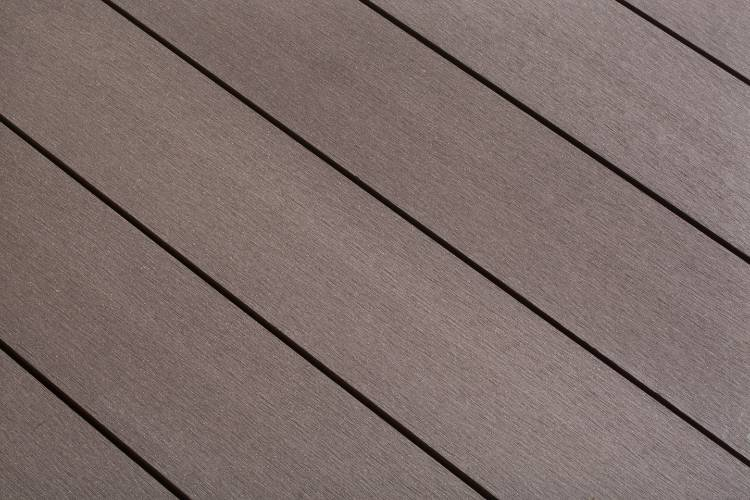 SmartBoard Chocolate Brown decking smooth profile in situ