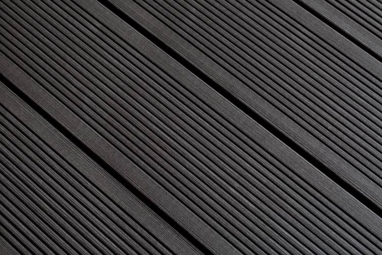 SmartBoard Slate decking reeded profile in situ